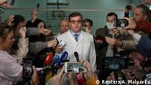 Russland Omsk Nawalny im Krankenhaus | Chefarzt Alexander Murakhovsky