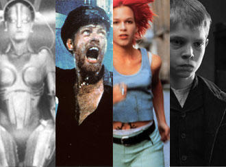 A montage of classic German films including Metropolis and Run Lola Run