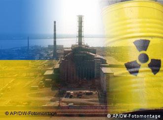 Symbolbild Ukraine Atom Uran. DW-Fotomontage 13.04.2010