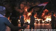 Irak Protest gegen die Regierung in Basra