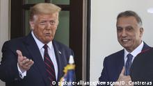 USA Irak Präsidenten Donald Trump und Mustafa al-Kadhimi