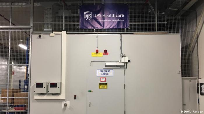 UPS freezer farm in the Netherlands