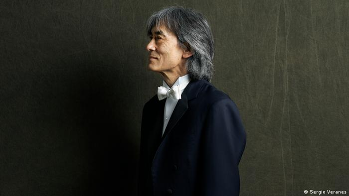 Kent Nagano in a black suite and white bowtie