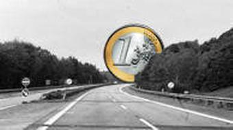 A euro at the end of a highway
