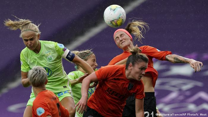A header from Wolfsburg's Pernille Harder