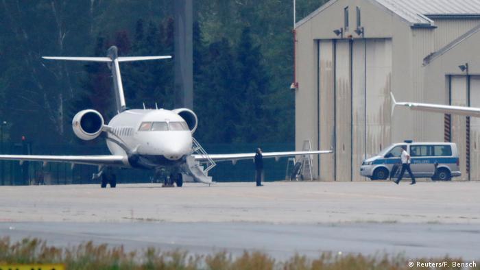 Ambulância aérea que transportou Navalny de Omsk, na Sibéria, para Berlim