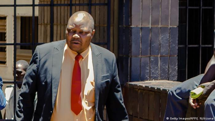 Job Sikhala nach einem Gerichtstermin in Harare (06.01.2018)