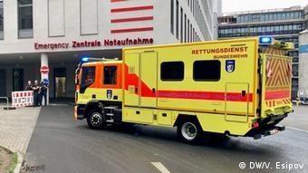 Автомобиль бундесвера, перевозивший Навального из аэропорта в Берлине в клинику Шарите
