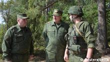 Weißrussland   Alexander Lukashenko besucht Militätübungsplatz nahe Grodno