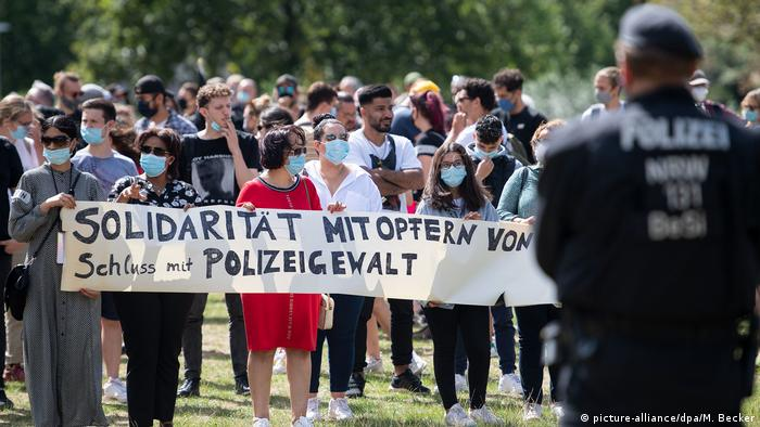 Protest against police brutality in Germany