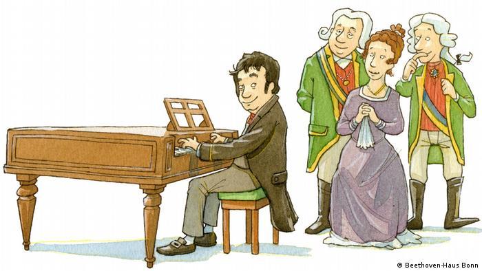 Imagen del juego interactivo Hola Beethoven.