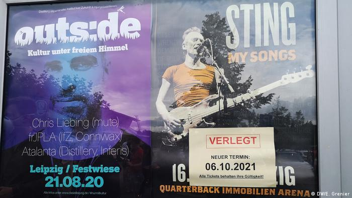 Sting poster for a concert postponed to October 2021