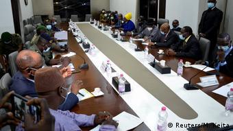 Rencontre entre les leaders de la junte militaire et une délégation de la Cédéao (22.08.2020)