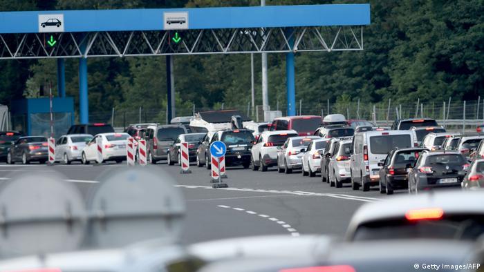 Черга на кордоні між Словенією та Хорватією