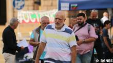 Bulgarien Sofia Velislav Minekov bei Protesten gegen Regierung