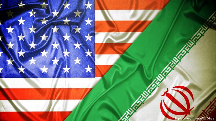 Fahnen von USA und Iran (picture-alliance/C. Ohde)