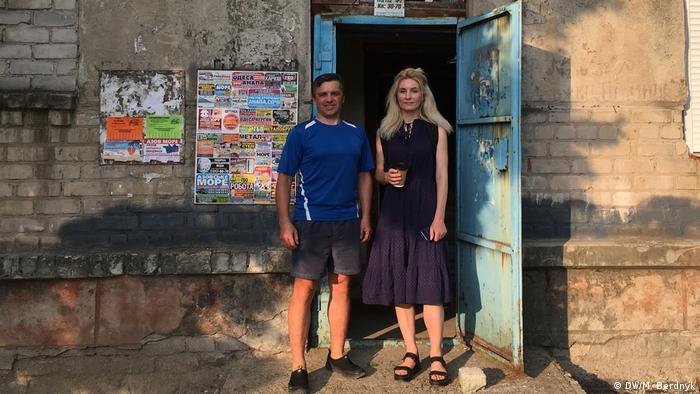Віталій Солодкий та засновниця Україномовного розмовного клубу Мар'яна Вольська