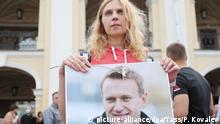 Russland Sankt Petersburg | Demo Solidarität mit Nawalny