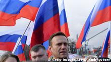 Moskau | Alexei Nawalny Boris Nemtsov Gedenkmarsch 2020