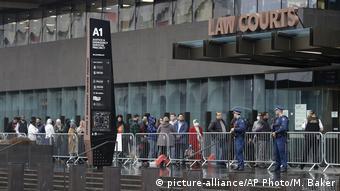 Neuseeland Christchurch | Urteilsverkündung gegen Christchurch-Attentäter (picture-alliance/AP Photo/M. Baker)