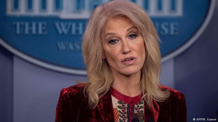 Kellyanne Conway, diretora da campanha eleitoral de Donald Trump para a eleição presidencial de 2016