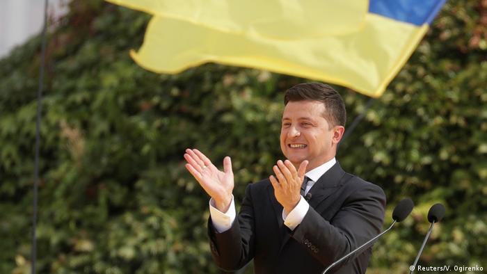Президент України Володимир Зеленський під час святкування Дня незалежності 24 серпня 2020 року