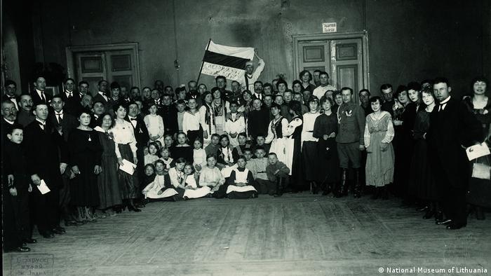 Празднование первой годовщины основания БНР. Гродно, 25 марта 1919 года