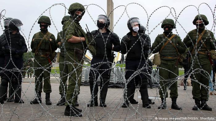 Weissrussland | Belarus | Proteste in Minsk (imago images/ITAR-TASS/V. Sharifulin)