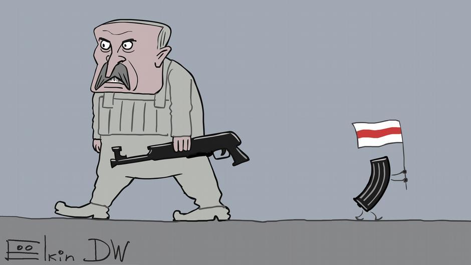 Почему автомат Лукашенко был без рожка с патронами   Беларусь: взгляд из  Европы - спецпроект DW   DW   24.08.2020