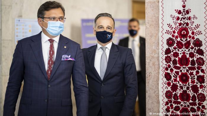 Министры иностранных дел Украины и Германии Дмитрий Кулеба и Хайко Мас