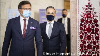 Министры иностранных дел Украины и Германии Дмитрий Кулеба и Хайко Мас в Киеве 24 августа