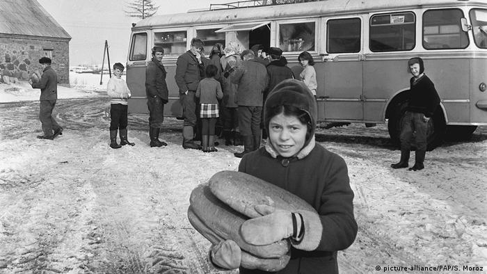 A bus in 1950's Poland