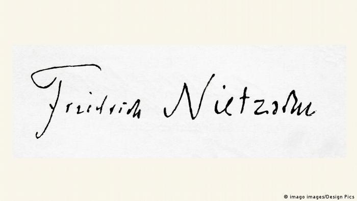 Die Unterschrift Friedrich Wilhelm Nietzsches