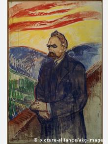 Philosoph Friedrich Nietzsche auf einem Gemälde von Edvard Munch