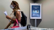 Frankreich Covid-19 Tests an französichen Flughäfen