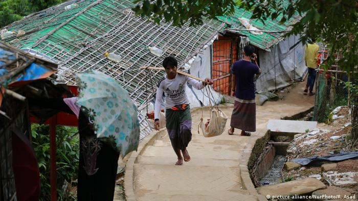 Pengungsi Rohingnya di kamp pengungsian Ukhia, Cox's Bazar, Bangladesh