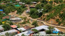A general views of a Rohingya refugee camp at Kutupalong in Ukhia, Cox's Bazar, Bangladesh on August 24, 2020. (Photo by Rehman Asad/NurPhoto) | Keine Weitergabe an Wiederverkäufer.