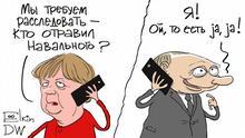Karikatur Sergey Elkin Navalny Merkel Putin
