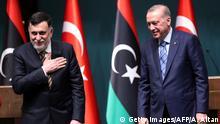 Türkei Libanon Präsident Recep Tayyip Erdogan und Premier Fayez al-Sarra