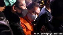 July 30, 2020, Jakarta, Jakarta, Indonesia: Indonesian police arrested convicted of corruption cases that harmed the state of Joko Tjandra at Halim Perdanakusuma Airport Jakarta, on July, 30.2020 nights. Djoko was charged with committing a criminal act of corruption related to the disbursement of Bank Bali bills through a cessie which cost the country Rp 940 billion. Jakarta Indonesia - ZUMAr173 20200730_zip_r173_004 Copyright: xDasrilxRoszandix