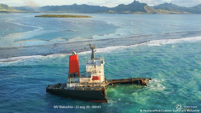 Mauritius I Frachter Wakashio versenkt (Reuters/Mobilisation Nationale Wakashio)