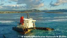 Mauritius I Frachter Wakashio versenkt