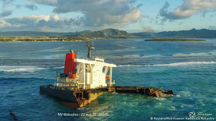 Bulk carrier MV Wakashio ran aground in July