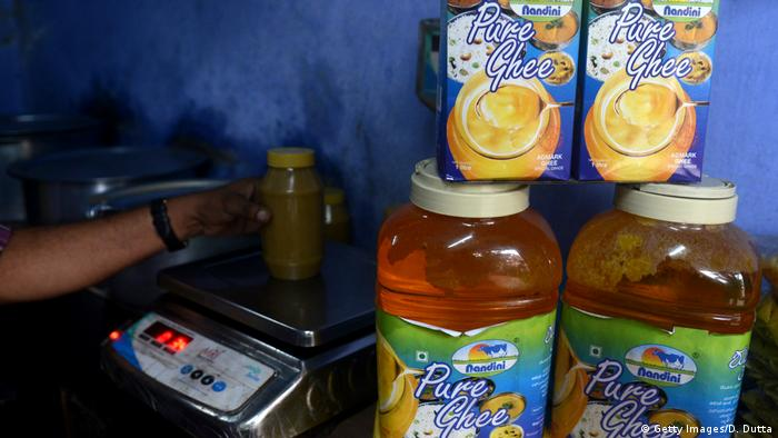 Ghee gereinigte Butter Produkt Gesundheit Nahrungsmittel Fett (Getty Images/D. Dutta)