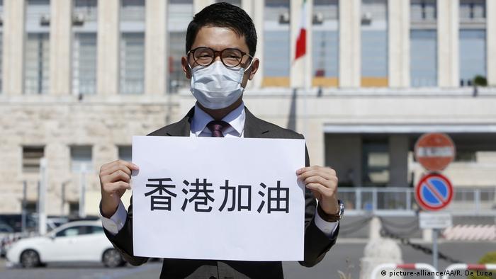 Protest in Italien China Hongkong