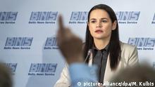Litauen   Pressetermin mit Svetlana Tichanovskaja