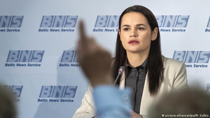 Litauen | Pressetermin mit Svetlana Tichanovskaja (picture-alliance/dpa/M. Kulbis)
