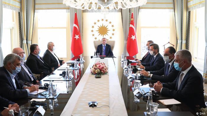 لقاء الرئيس التركي رجب طيب أردوغان بإسماعيل هنية في إسطنبول في 22 أغسطس/ آب 2020