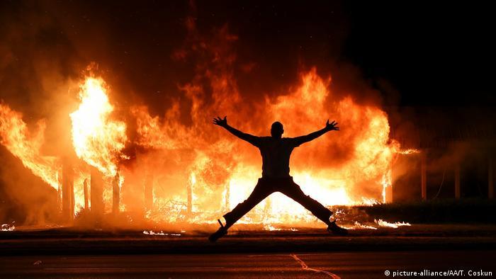 Пожежа внаслідок безчинств у Кеноші