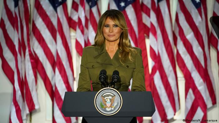 Melania Trump durante discurso